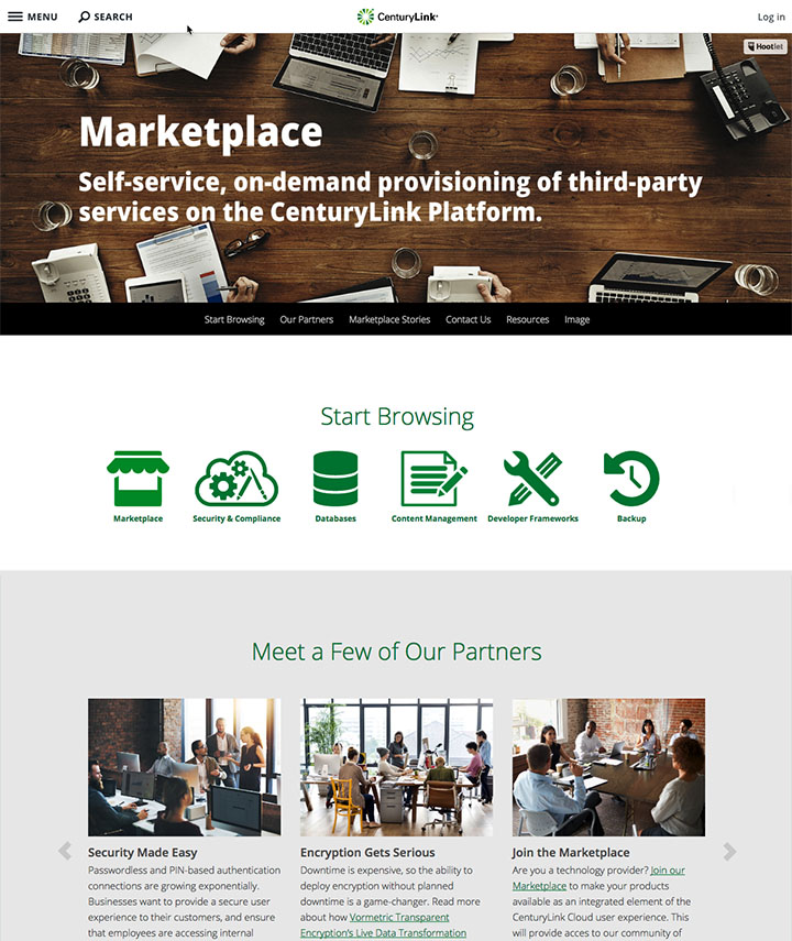 Join the CenturyLink Cloud Marketplace