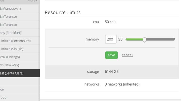 CPU、内存、存储和网络资源限制