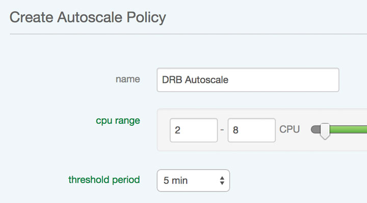 Vertical Autoscale automatically increases the compute capacity of cloud servers based on set policies