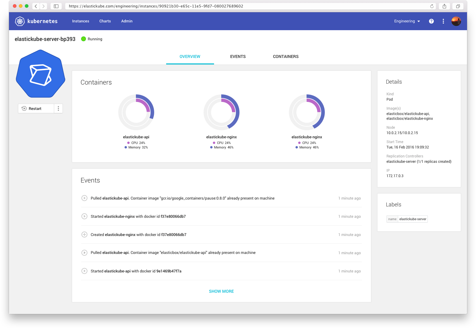ElasticKube cloud platform management for real-time access