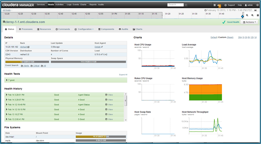 Cloudera Manager for Big Data Service