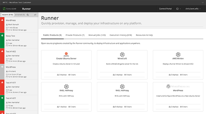 Runner manages workflows and infrastructure on any cloud