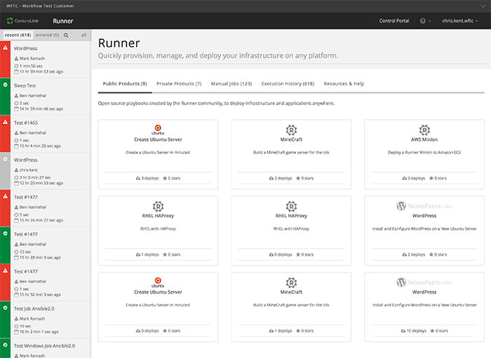 Runner manages and automates workflows and infrastructure, wherever it is.