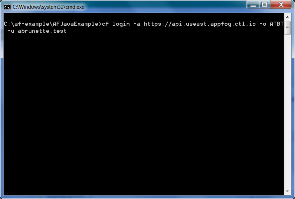 Test login from command line