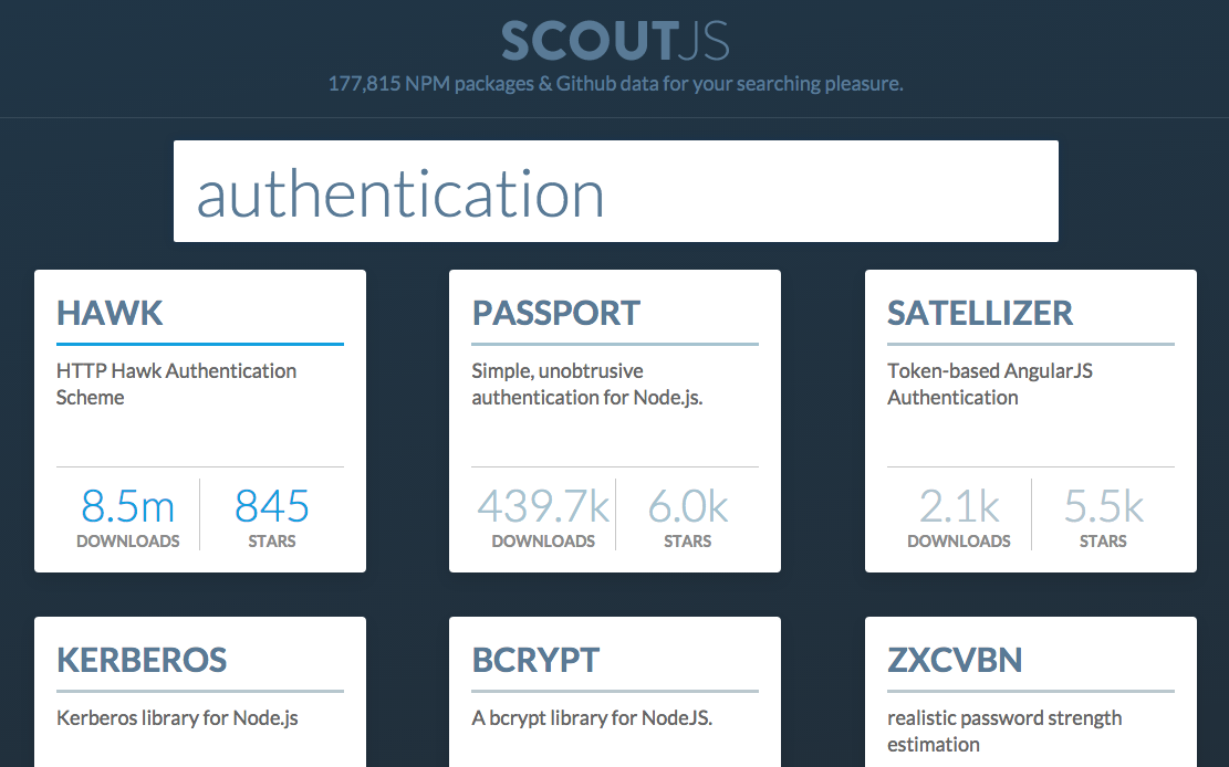 ScoutJS Example Search