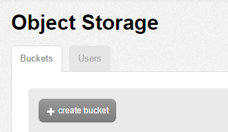 Object Storage create bucket