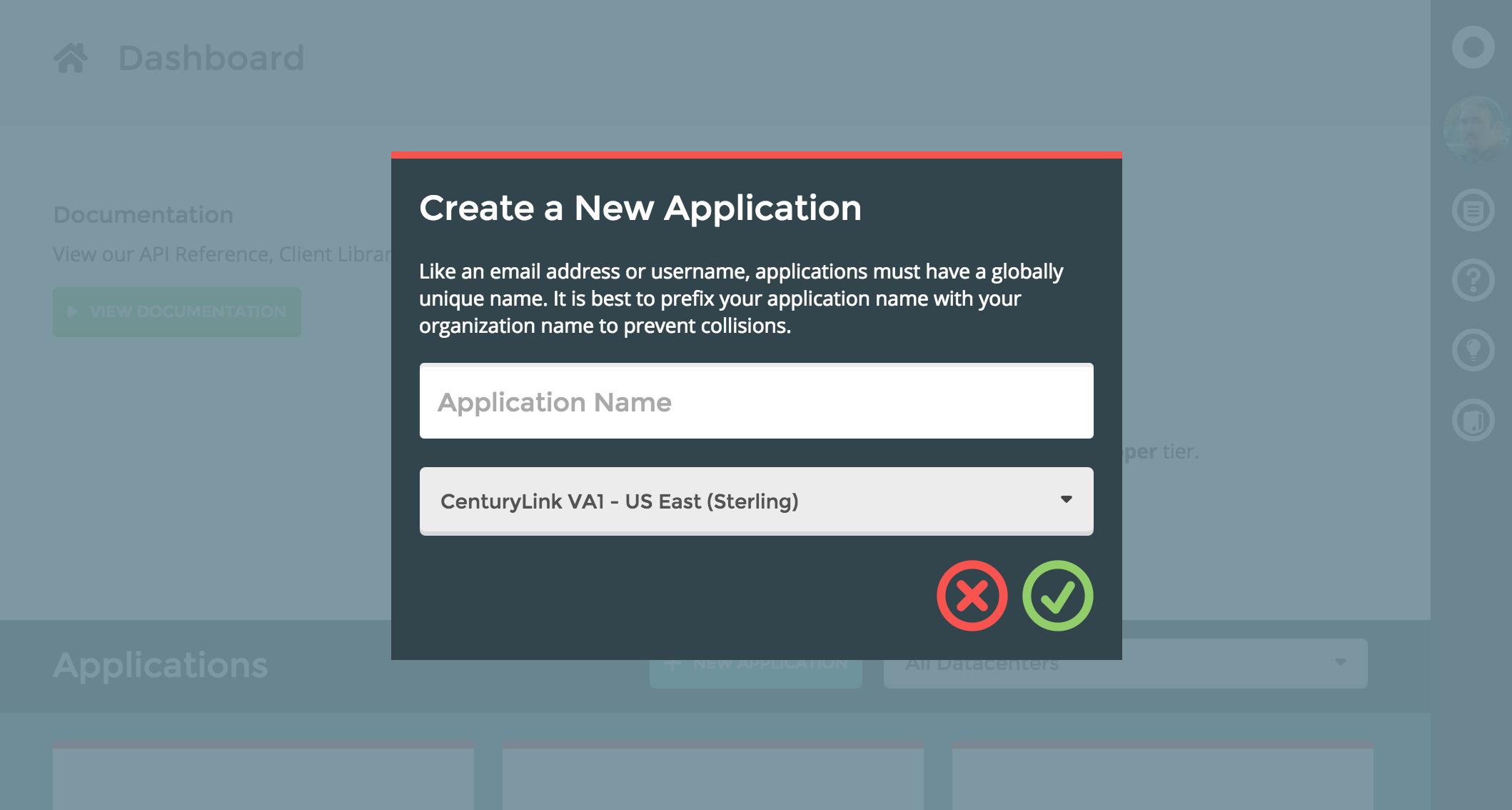 Deploy an app with user login centurylink cloud developer center create new app publicscrutiny Choice Image
