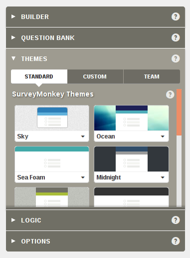 Survey Monkey Themes