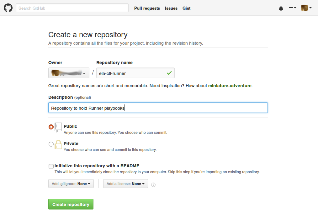 Creating a GitHub repository
