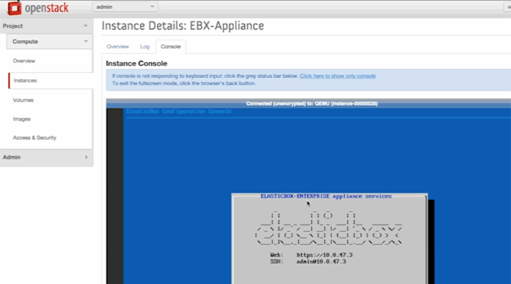 Installing the Cloud Application Manager Virtual Appliance in OpenStack