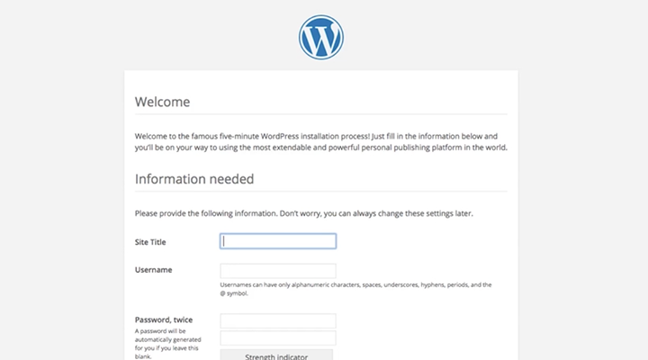 Cloud Application Manager WordPress Endpoint