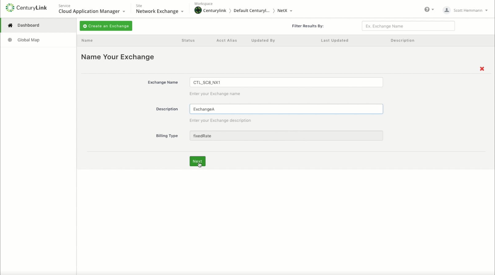 Creating and Deleting an Exchange