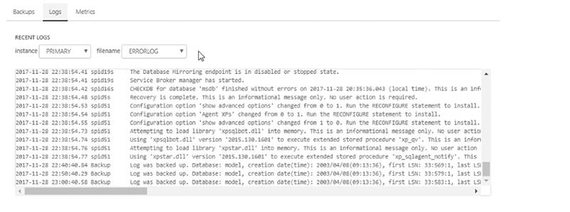 RDBS Configure Database