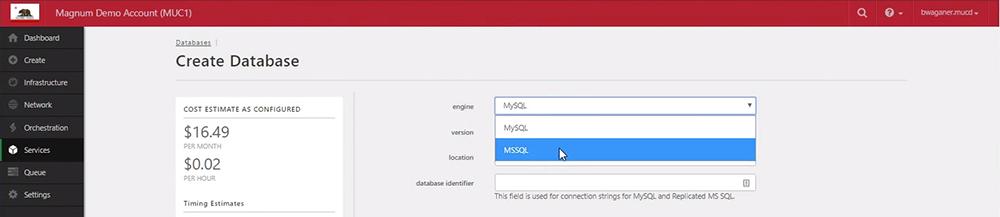 RDBS Create Database