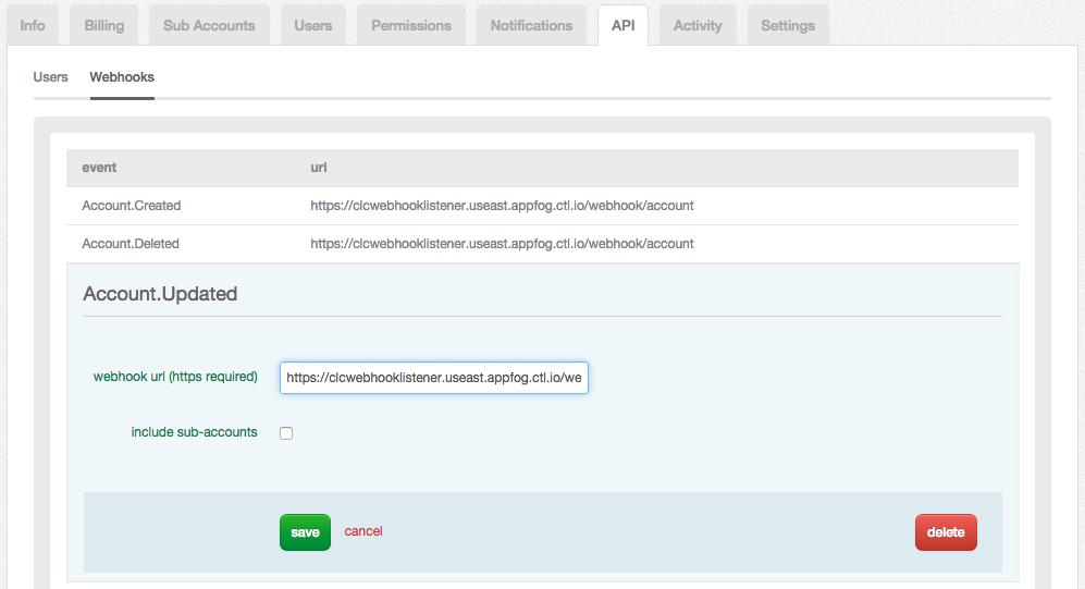 Webhooks Configuration