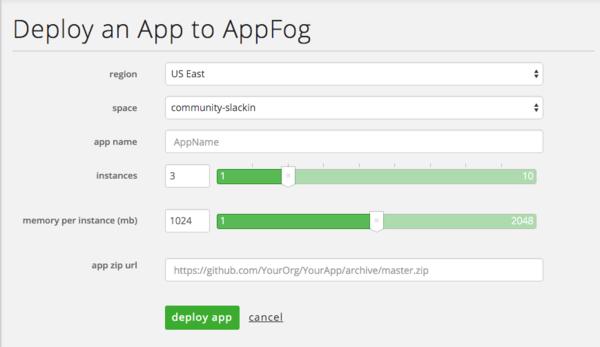AppFog Deploy Apps