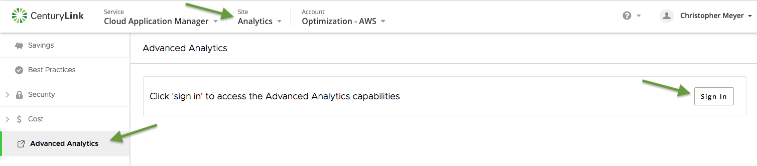 Advanced Analytics Screenshot