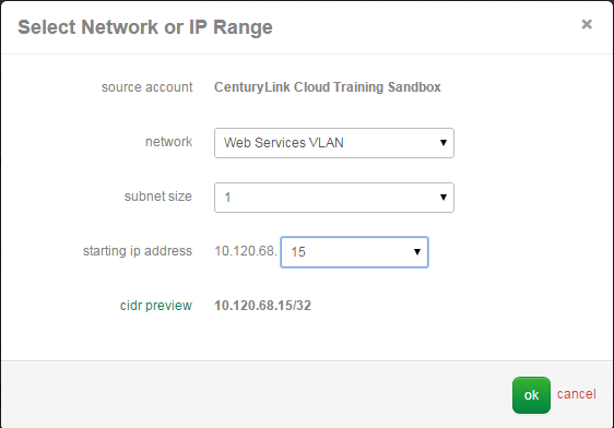 Select Source Network or IP