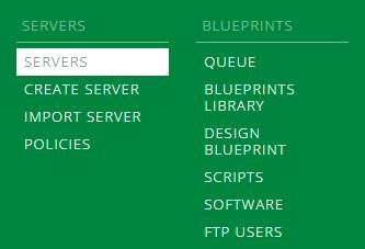 Portal Servers Menu