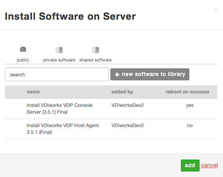 Install Software on Server