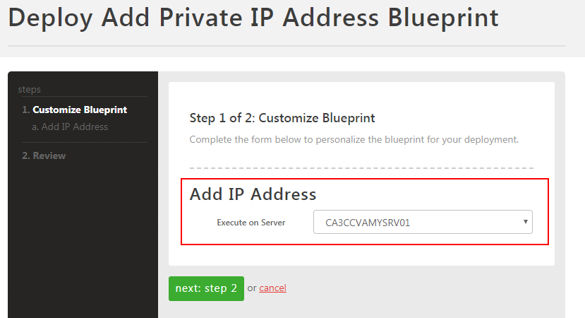 select server for ip address