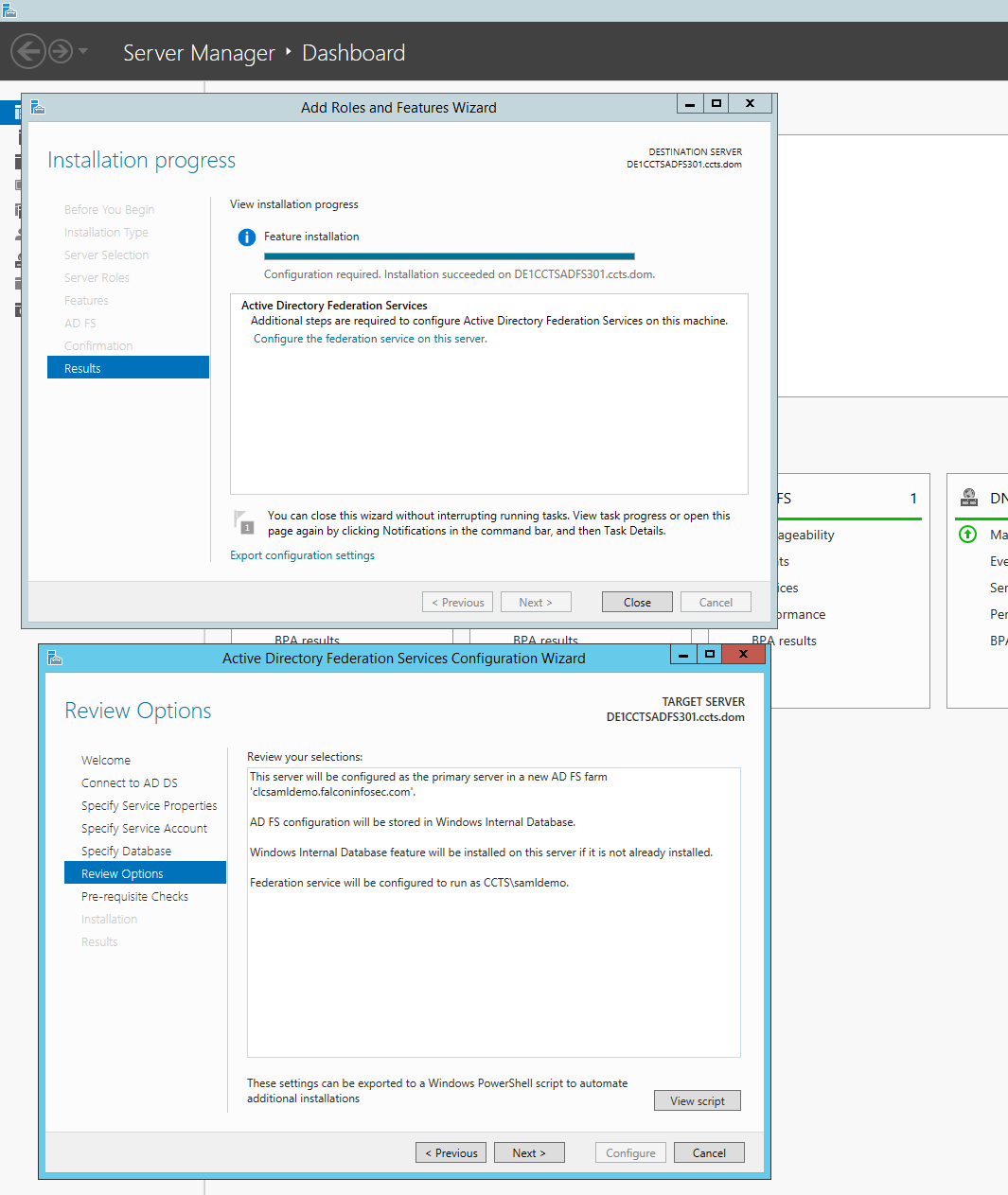 ADFS Configuration