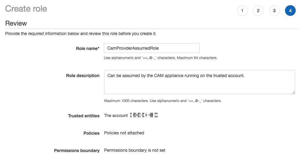 AWS Console Role Details