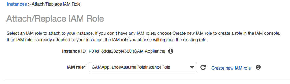 AWS Console Attach Role