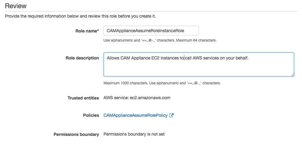 AWS Console Role review