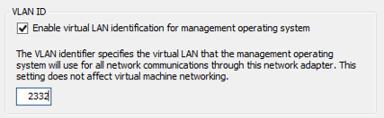 Enter the VLAN ID