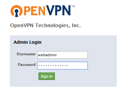 OpenVPN Web UI