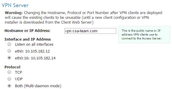 VPN Server Configuration