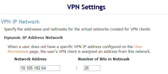 Client VPN DHCP Pool