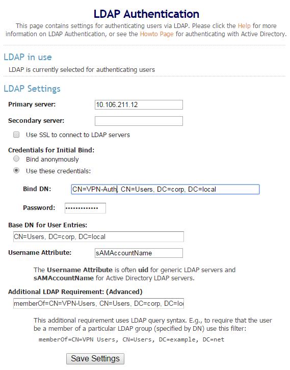 Configure LDAP