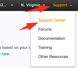 Navigate to Support Center