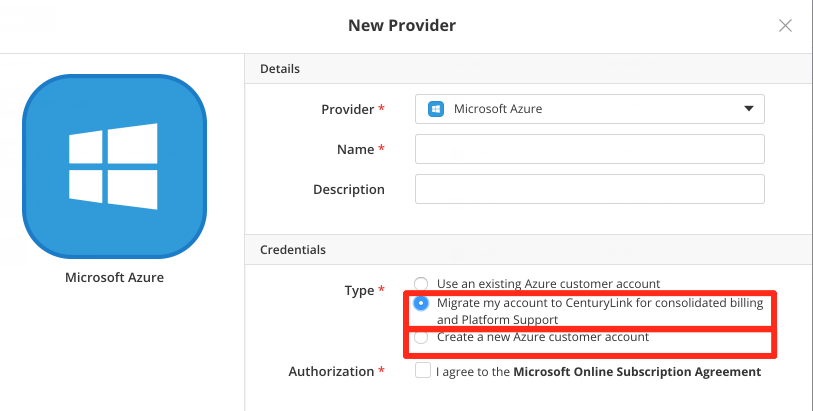 Microsoft Azure Provider Options