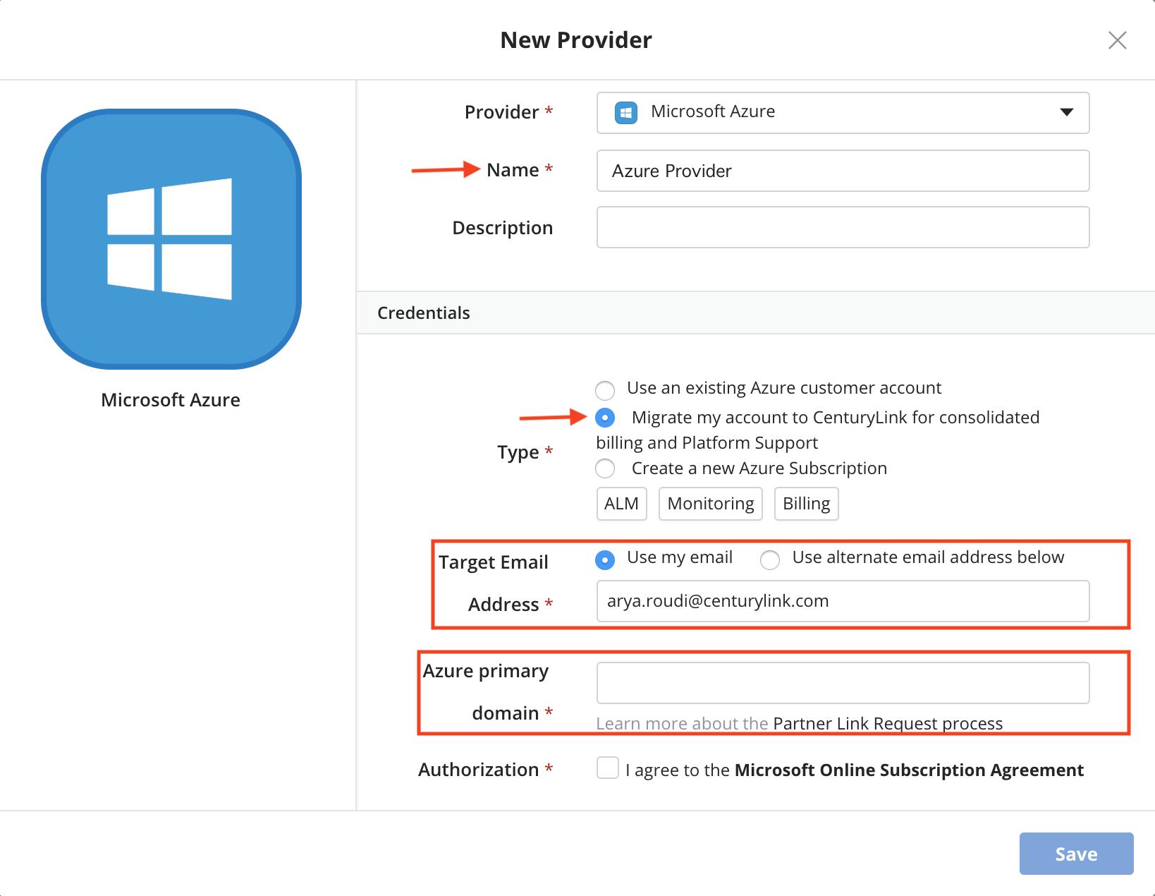 Create New Azure Account