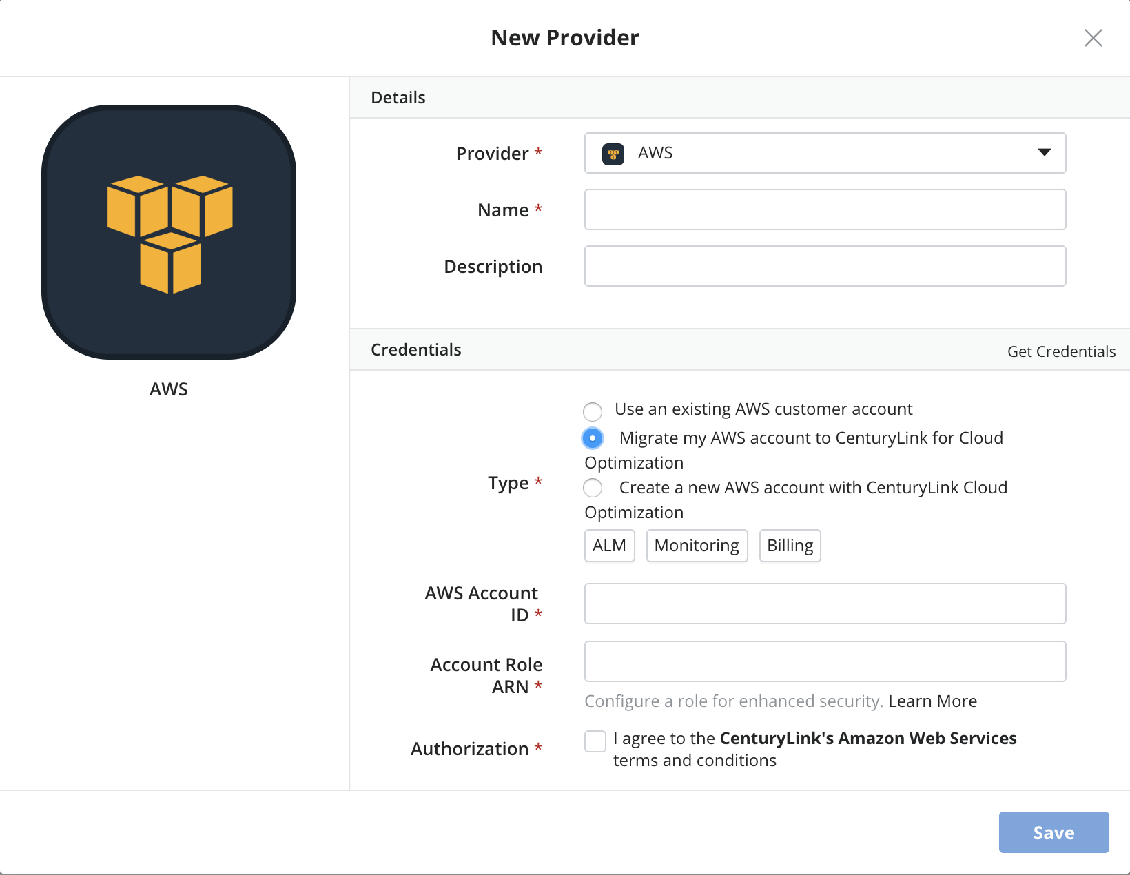 Migrate AWS Account