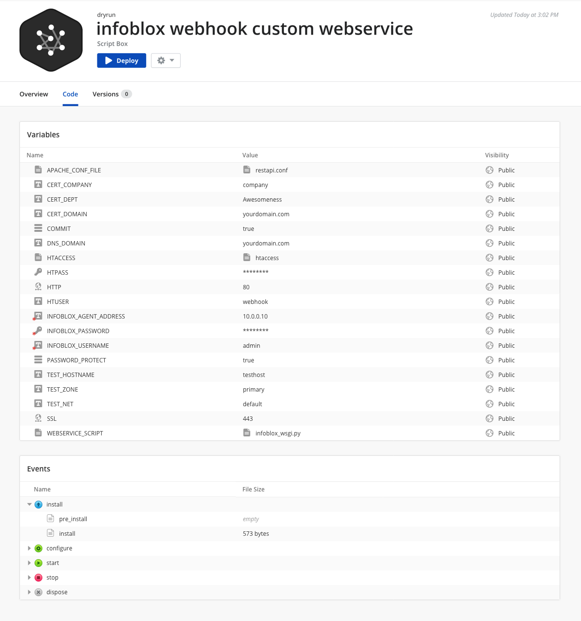 Custom- Infoblox Webervice