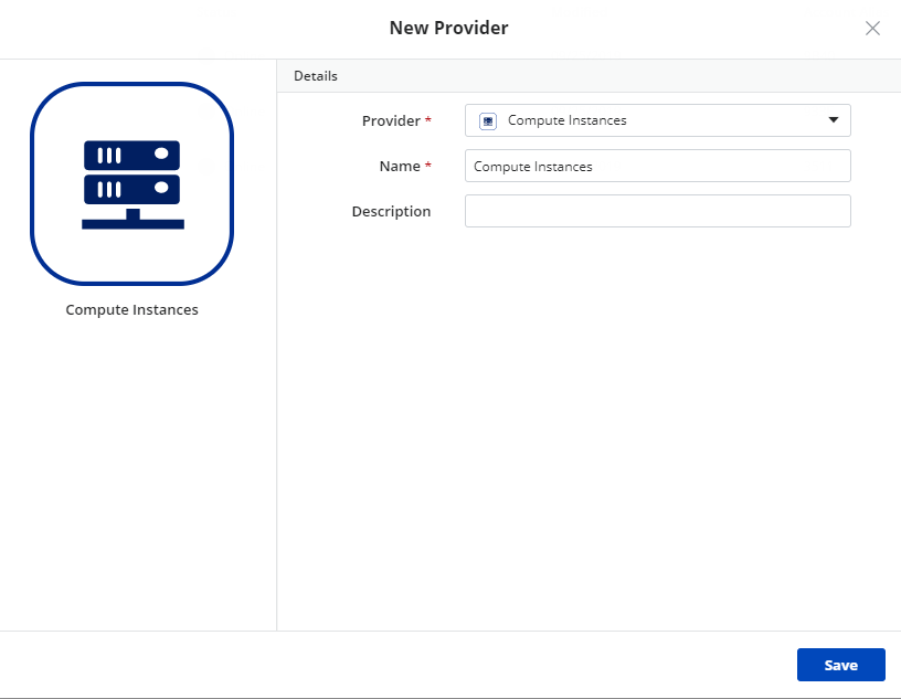 New compute instances provider