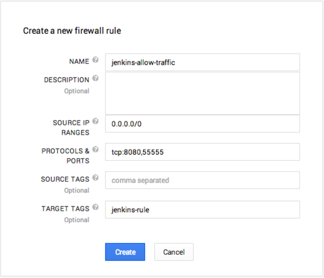 Configure cloud provider firewall