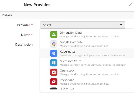Creating a new Kubernetes Provider