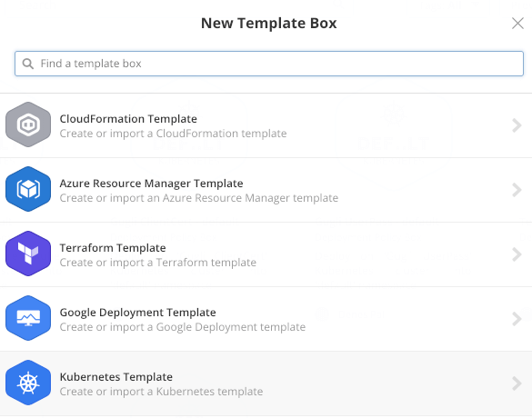 Creating a new Kubernetes Template Box