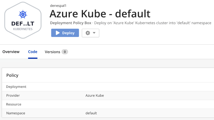 Automatically created Policy Box of a Kubernetes Provider