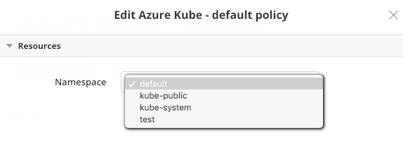 Changing the Namespace for a Kubernetes Policy Box
