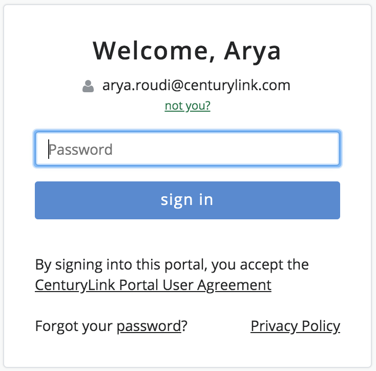 CenturyLink Master Account sign in