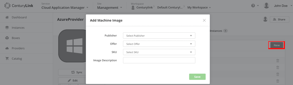 Microsoft Azure - Add OS image to deploy