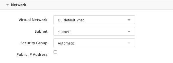 Microsoft Azure Deployment Options - Network