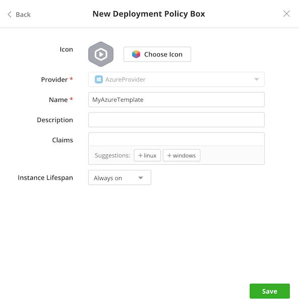 Microsoft Azure - Select provider name