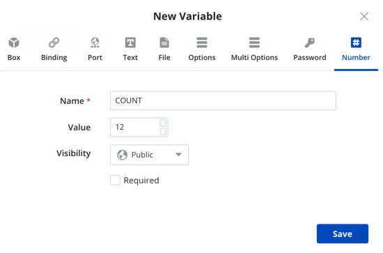 Adding Number type variable